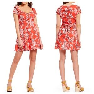 FREE PEOPLE A Thing Called Love Floral Mini Dress